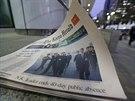 Snímek Kim Čong-una s holí obsadil titulní strany jihokorejských novin (14....