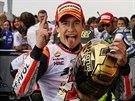 ZNOVU ŠAMPIONEM. Mark Marquez obhájil vítězství ve královské třídě MotoGP.