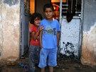 Kurd�t� uprchl�ci ze severosyrsk�ho Kobani (13. ��jna 2014).