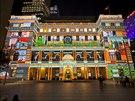 Podobné ukázky videomappingu mohou od čtvrtka účastníci festivalu světla vidět...