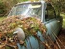 Po čtyřiceti letech se vůz propadl o několik centimetrů do okolního terénu.