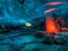Tyrkysová jeskyn�, Alja�ka. Mí�íme do dal�í ledovcové jeskyn�, tentokrát na...