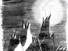 Malbu země z Měsíce vytvořil Petr Ginz v koncentračním táboře. Kopii obrázku...