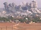 Bombardování syrského města Kobani