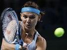SOUSTŘEDĚNÁ. Lucie Šafářová v semifinále turnaje v Moskvě.