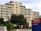 Texaská presbytariánská nemocnice v Dallasu, kde zemřel první pacient nakažený...