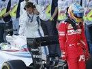 Fernando Alonso ze stáje Ferrari po dokončení Velké ceny Ruska.