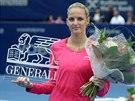 Karolína Plíšková se raduje z vítězství na turnaji v Linci.