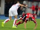 Florian Klein z Rakouska padá k nohám Vladimira Božoviče z Černé Hory.
