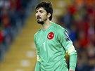 Turecký gólman Tolga Zengin v utkání s Českem