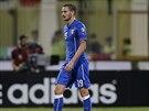 Italský fotbalista Leonardo Bonucci inkasoval v zápase s Maltou červenou kartu...