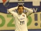 Ostravský navrátilec Milan Baroš lituje spálené šance v utkání s Jihlavou.