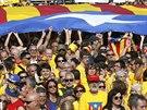 Demonstrace za katal�nskou nez�vislost na n�m�st� Catalunya v Barcelon� (19....