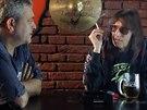 Režisér Zdeněk Gawlik a zpěvák Aleš Brychta v pořadu 13. komnata Aleše Brychty