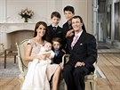 Dánský princ Joachim, princezna Marie a princové Felix, Nikolai, Henrik a...
