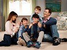Dánský princ Joachim, princezna Marie a děti Athena, Felix, Henrik a Nikolai...