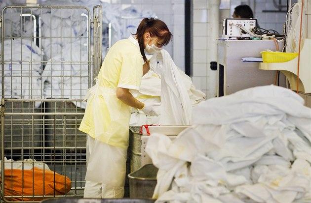 Prádelna plze�ské fakultní nemocnice.