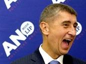 Ministr financí a šéf hnutí ANO Andrej Babiš ve štábu strany v Praze. (11....