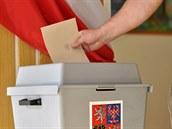 Volební hlasování.