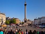 Turisté na londýnském nám�stí Trafalgar Square