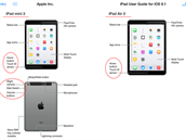 Snímky z p�íru�ky k p�ipravovaným tabletovým novinkám Applu. Obrázky ukazují...