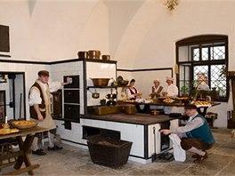 Oživlá kuchyně na zámku Žleby