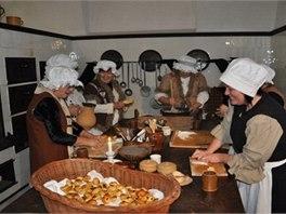 Zámecké kuchtičky připraví návštěvníkům dobové pochoutky