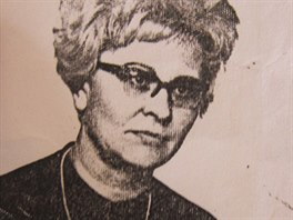 Jiřina Jelínková v roce 1974