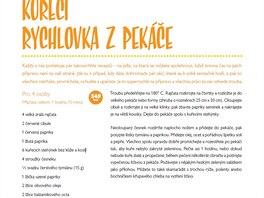 Recept na kuřecí rychlovku z pekáče z knihy Vařte chytře jako Jamie (MLD Publishing, s.r.o., 2014)