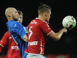 Momentka z druholigového zápasu Ústí nad Labem - Pardubice.