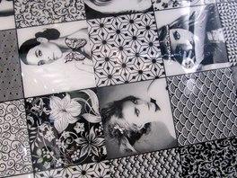 Černobílá kombinace se promítá do sérií napodobujících styl retro či art deco.