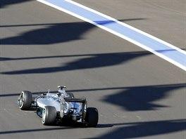 Nick Rosberg během kvalifikace na Velkou cenu Ruska.