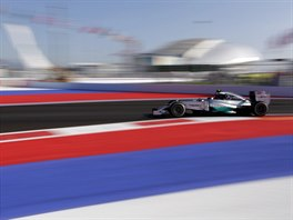 Nico Rosberg b�hem Velk� ceny Ruska