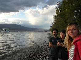 S na�imi brazilsk�mi kamar�dy Rafaelou a Reynaldem u jezera Kalamalka