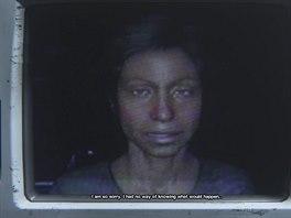 Doktorka Lindhardová už mluví jen z videonahrávek nevalné kvality.