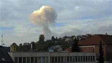 Dým po výbuchu byl vid�t i z Vala�ských Klobouk vzdálených asi sedm kilometr�.