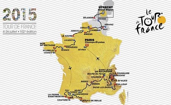 Trasa Tour de France 2015.