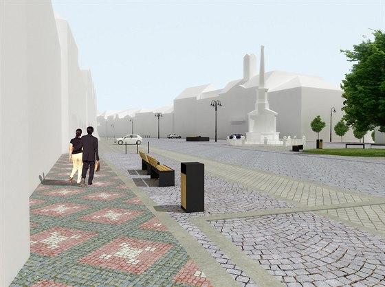 Architekti navrhli využít původní dlažbu i moderní obrubníky. Místy se objeví...