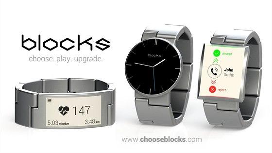 Modulární hodinky Blocks