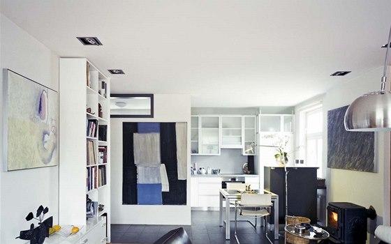 Interiér jednodomku od architekta Ivana Bergmanna
