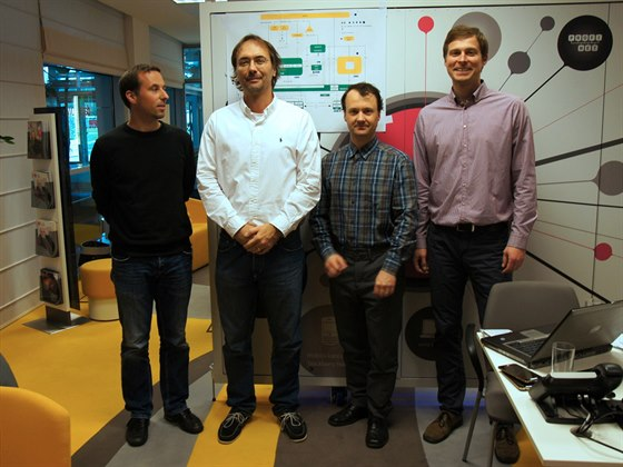 T�m, kter� m� v T-Mobilu na starosti implementaci VoLTE. Zleva: Jan Pr�cha, Jan...