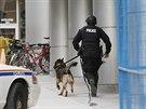Policie zasahuje v centru Ottawy. (22. října 2014)