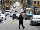 Policie uzav�ela centrum m�sta po st�elb� u památníku v Ottaw�. (22. �íjna...