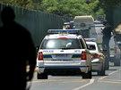 Policie převáží Oscara Pistoriuse od soudu do věznice Kgosi Mampuru II (21....