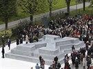 Odhalení památníku dezertérů z wehrmachtu ve Vídni. (24. října 2014)