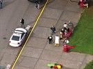 Neznámý útočník střílel ve střední škole ve městě Marysvill ve státě...