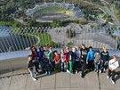 Z olympijské věže, vysoké 291 metrů, je krásný výhled na bývalý stadion Bayernu.