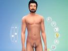 Zpracování penisu v jedné z modifikací pro Sims 4