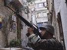 Libanonsk� arm�da na patrole v Tripolisu (27. ��jna 2014).