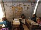 Syrští uprchlíci v Azazu, který leží poblíž tureckých hranic (27. října 2014).